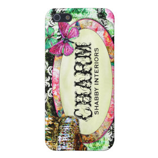 GC Shabby Charm Interiors Black Damask Cover For iPhone SE/5/5s
