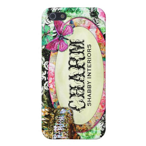 GC Shabby Charm Interiors Black Damask Covers For iPhone 5