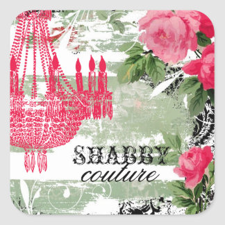 GC Shabby Garden Chandelier Square Sticker