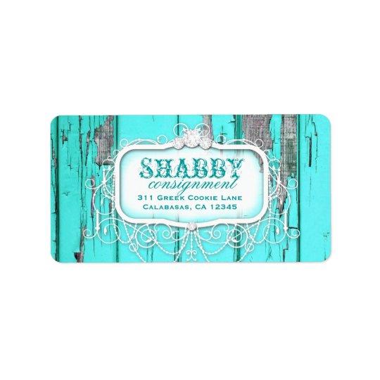 GC Shabby Vintage Aqua Label