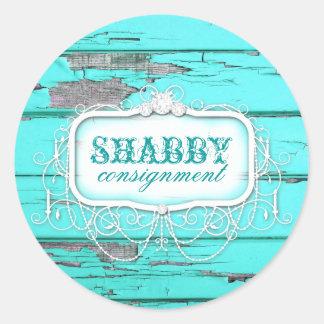 GC Shabby Vintage Aqua Wood Sticker