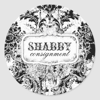 GC Shabby Vintage Black & White Sticker