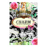 GC   SHABBY Vintage Charm - Black Damask Flyer