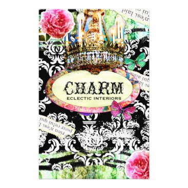 GC | SHABBY Vintage Charm - Black Damask Flyer