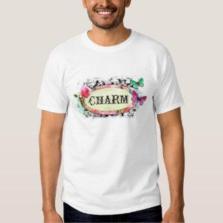 GC | SHABBY Vintage Charm - Black Damask Tee Shirt