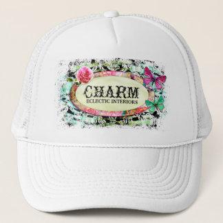 GC | SHABBY Vintage Charm - Black Damask Trucker Hat