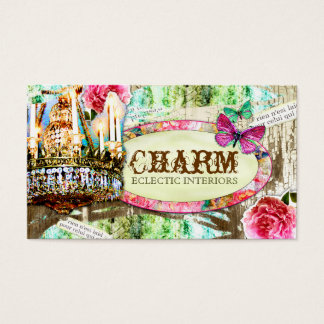 GC | Shabby Vintage Charm Chipped Paint Business Card