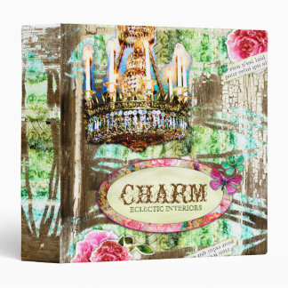 GC | Shabby Vintage Charm - LARGE Chipped Paint Vinyl Binders