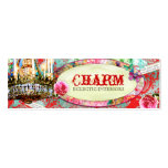 GC Shabby Vintage Charm - Red Turquiose Damask Business Cards