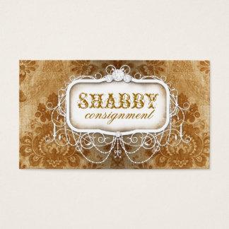 GC Shabby Vintage Gold Damask Business Card