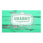 GC Shabby Vintage Green Wood Business Card Template