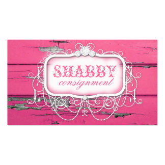 GC Shabby Vintage Pink Wood Double-Sided Standard Business Cards (Pack Of 100)
