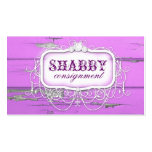 GC Shabby Vintage Purple Wood Business Card