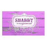GC Shabby Vintage Purple Wood Business Card