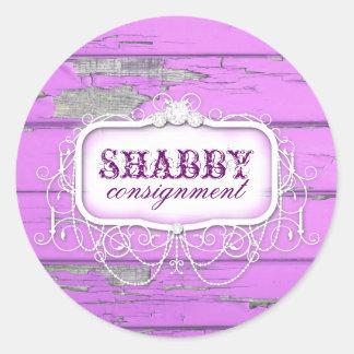 GC Shabby Vintage Purple Wood Sticker