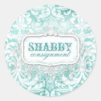 GC Shabby Vintage Turquoise Sticker