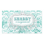 GC Shabby Vintage Turquoise Wood Business Card Template