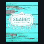 "GC Shabby Vintage Wood Aqua Flyer<br><div class=""desc"">Design by Jill McAmis &#169; 2014.</div>"