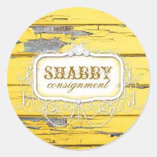 GC Shabby Vintage Yellow Wood Sticker
