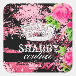 GC Shabby Wild Garden Tiara Square Sticker