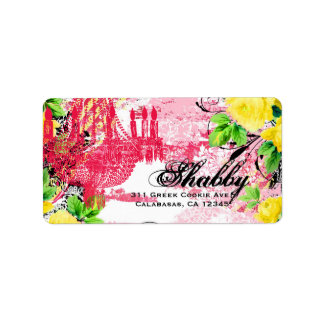 GC Shabby Yellow Rose Garden Couture Chandelier Label