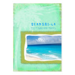 GC Shangri-La Forever Sea Green Business Cards
