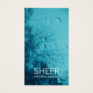 GC | Sheer Water Blue Business Card