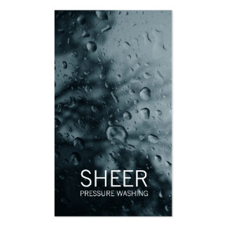 GC | Sheer Water Gray Double-Sided Standard Business Cards (Pack Of 100)