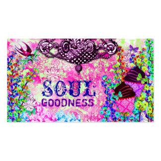 GC | Soul Goodness Purple Chandelier Cupcakes Business Card