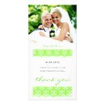 GC | Sweet Green Print Thank You Photo Card Template