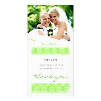 GC | Sweet Green Print Thank You Photo Card Template