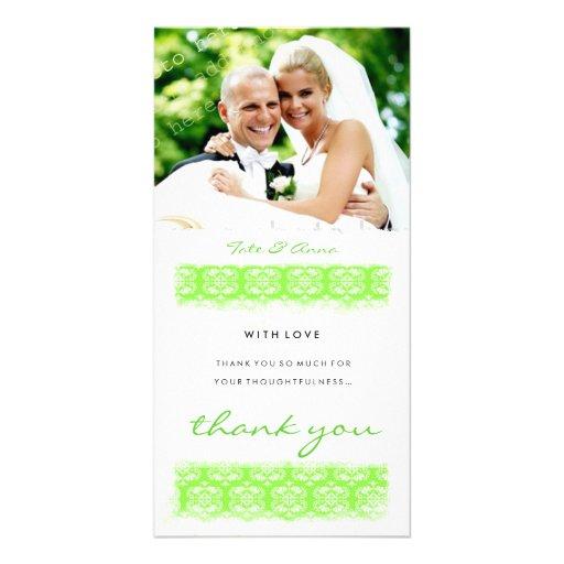 GC   Sweet Green Print Thank You Photo Card Template
