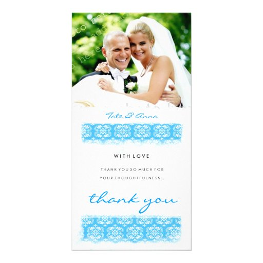 GC   Sweet Ocean Print Thank You Picture Card