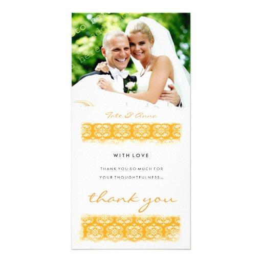 GC   Sweet Orange Print Thank You Photo Cards