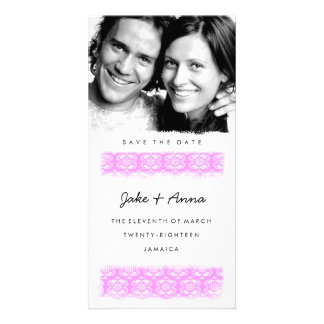 GC | Sweet Pink Print Save the Date Card