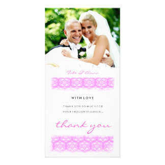 GC | Sweet Pink Print Thank You Card