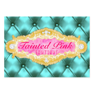 GC Tainted Pink & Aqua Tuft Large Business Card