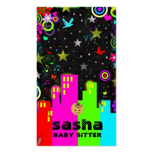 GC | Teen Entreprenuer Series - BABY SITTER Double-Sided Standard Business Cards (Pack Of 100)