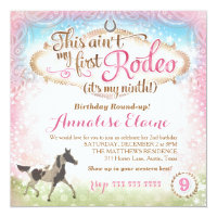 GC This Aint My First Rodeo 9th Birthday 1st Invitations