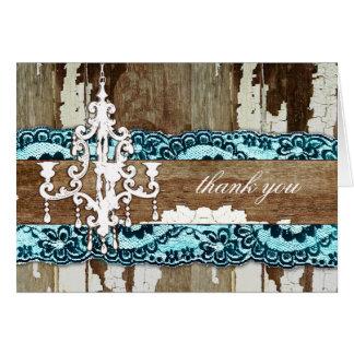 GC | Trash to Treasure Aqua Blue Thank You Card