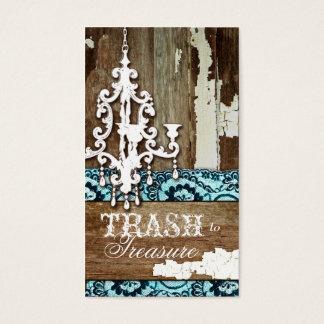 GC | Trash to Treasure Chandelier Aqua Blue Business Card