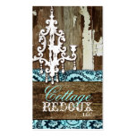GC Trash to Treasure Chandelier Aqua Blue Double-Sided Standard Business Cards (Pack Of 100)