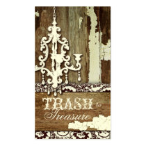 GC Trash to Treasure Chandelier Business Card Template