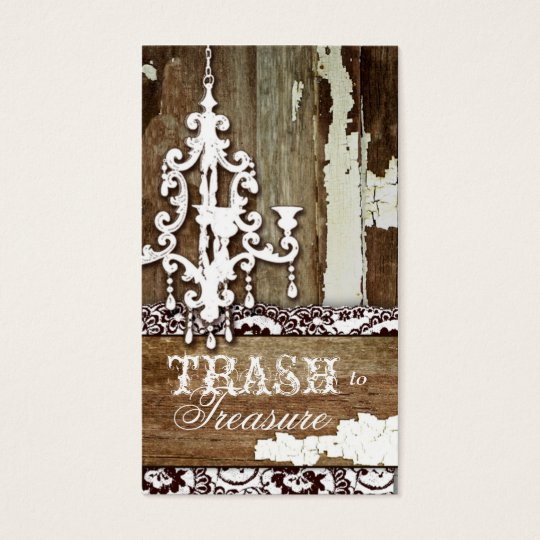 GC Trash to Treasure Chandelier Business Card