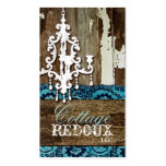 GC Trash to Treasure Chandelier Teal Business Card