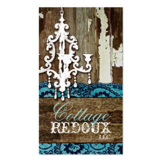 GC Trash to Treasure Chandelier Teal Double-Sided Standard Business Cards (Pack Of 100)