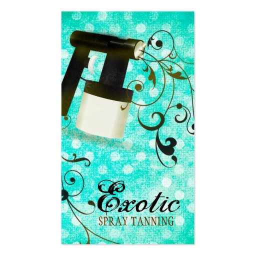 GC Turquoise Dots Spray Tan Vintage Business Card