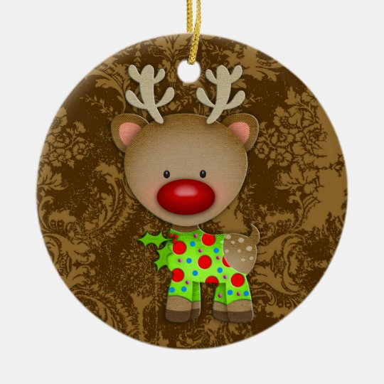 GC Ugly Sweater Ornament Reindeer