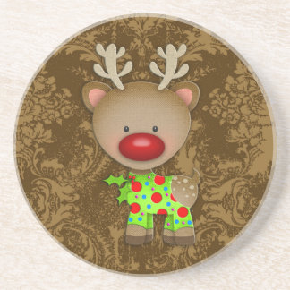 GC Ugly Sweater Party Reindeer Beverage Coasters