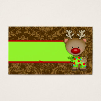 GC Ugly Sweater Party Reindeer Name Card